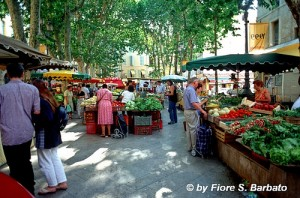 Grasse town market